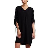 Maison Martin Margiela Crepe Drawstring Shift T Shirt Dress Black