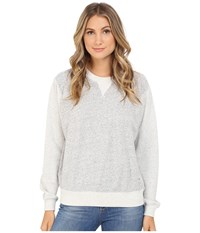 G Star Sipal Boyfriend Crew Neck Sweater In Premium Sherland Sweat Grey Heather Women's Sweater Gray