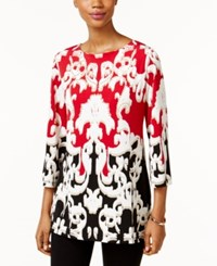 Jm Collection Printed Boat Neck Top Only At Macy's Seperated Tapes