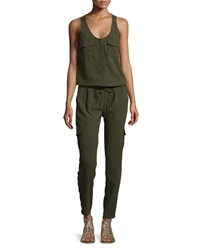 Joie Vernay Cargo Pocket Jumpsuit Military