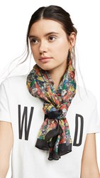 Rebecca Minkoff Sketch Floral Long Scarf Black