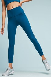 Anthropologie Ombre Mesh Leggings Blue Motif