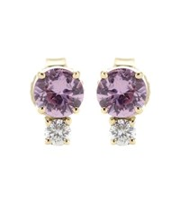 Jemma Wynne Sapphire And Diamond Embellished Gold Earrings Purple