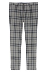 Topman Classic Fit Suit Trousers Grey Multi