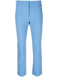 Veronica Beard Slim Fit Cropped Trousers 60