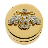 Joanna Buchanan Gold Trinket Box Amber Bee