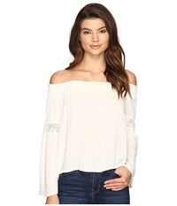 Brigitte Bailey Sula Off The Shoulder Top With Lace Inset Off White Women's Clothing