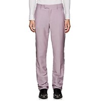 Calvin Klein 205W39nyc Striped Mohair Wool Flat Front Trousers Mauve