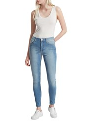 French Connection Skinny Stretch Rebound Denim Jeans Sunbleached
