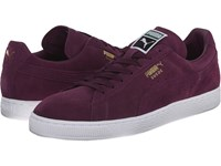 Puma The Suede Classic Italian Plum White Men's Shoes Purple