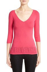 Versace Women's Collection Open Knit Hem Top