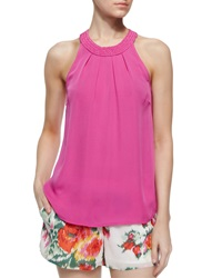Joie Fantina Braided Collar Tank Top Orchid