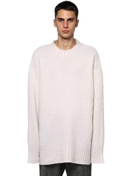 Maison Martin Margiela Casentino Oversized Crewneck Sweater Off White