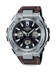 G Shock Steel Analog Digital Watch Brown