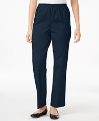 Alfred Dunner Twill Pull On Pants Navy