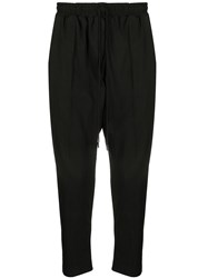 Alchemy Loose Fit Cropped Trousers Black