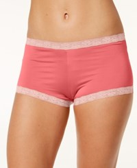 Maidenform Microfiber Boyshort 40760 Coral Punch W Coral Antiquity