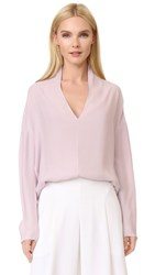 Narciso Rodriguez V Neck Blouse Orchid