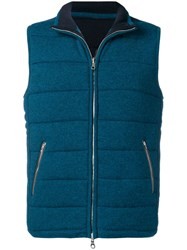 N.Peal Sleeveless Quilted Jacket Blue