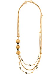 Christian Dior Vintage Layered Chain Necklace Metallic