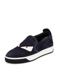 Fendi Monster Slip On Skate Sneaker Blue