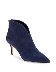 424 Fifth Derren Point Toe Suede Boots Evening Blue