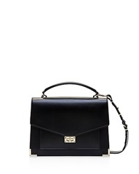 The Kooples Emily Large Leather Satchel Black