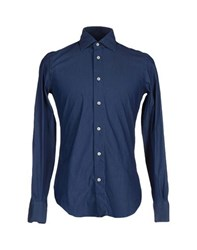 Mazzarelli Shirts Shirts Men Dark Blue