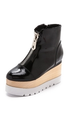 Jeffrey Campbell Kinkling Booties Black White