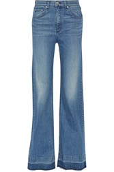 Rag And Bone Justine Mid Rise Flared Jeans Blue