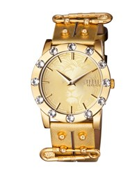Versus By Versace Miami Crystal Round 40Mm Women's Watch Champagne