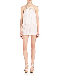 Ramy Brook Jilly Circle Short Jumpsuit Soft White