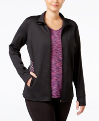 Ideology Plus Size Track Jacket Only At Macy's Noir