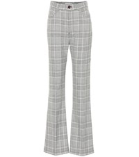 See By Chloe Checked High Rise Wide Leg Pants Grey