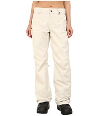 686 Authentic Standard Pant Ivory Diamond Dobby Women's Outerwear Beige