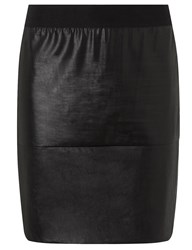 Etoile Isabel Marant Black Leatherette Jaws Bodycon Skirt