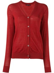 Sofie D'hoore V Neck Cardigan Red