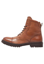 Pier One Laceup Boots Brown Cognac