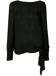 Thomas Wylde Petunia Blouse Women Silk S Black