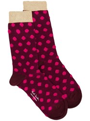 Paul Smith Ps By Fluffy Spot Harlow Socks Pink