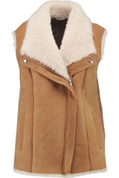 Joie Brinley Shearling Gilet Camel