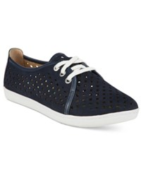 Easy Spirit Dafina Lace Up Flats Women's Shoes Navy