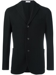 Boglioli Notched Lapel Blazer Black