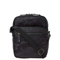 Valentino Nylon Jaquard Camo Cross Body Bag Black