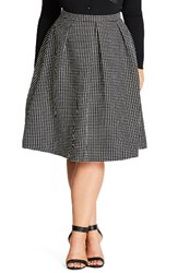 City Chic Plus Size Women's '60S Mod Skirt