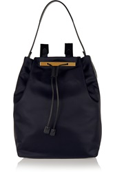 The Row Leather Trimmed Shell Backpack