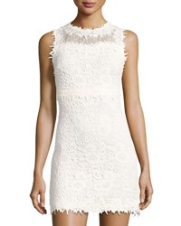 Romeo And Juliet Couture Sleeveless Lace Sheath Dress Off White