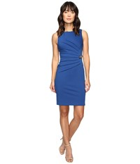 Ivanka Trump Ponte Starburst Dress With Toggle Chain Deep Sea Women's Dress Navy