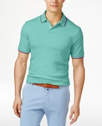 Club Room Men's Interlock Tipped Polo Only At Macy's Menthol Mint