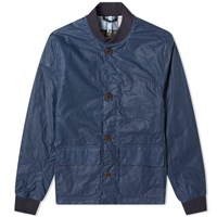 Barbour Kirkstile Waxed Bomber Jacket Blue